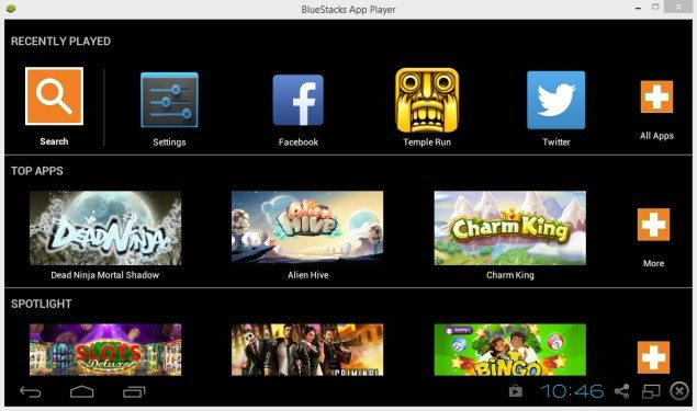 Bluestacks install Android apps