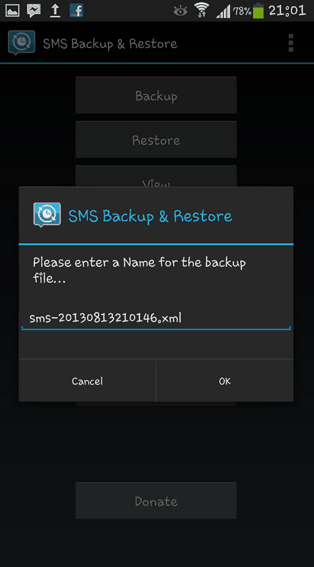 Download hush sms android backup