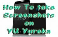 Take screenshot on YU Yureka