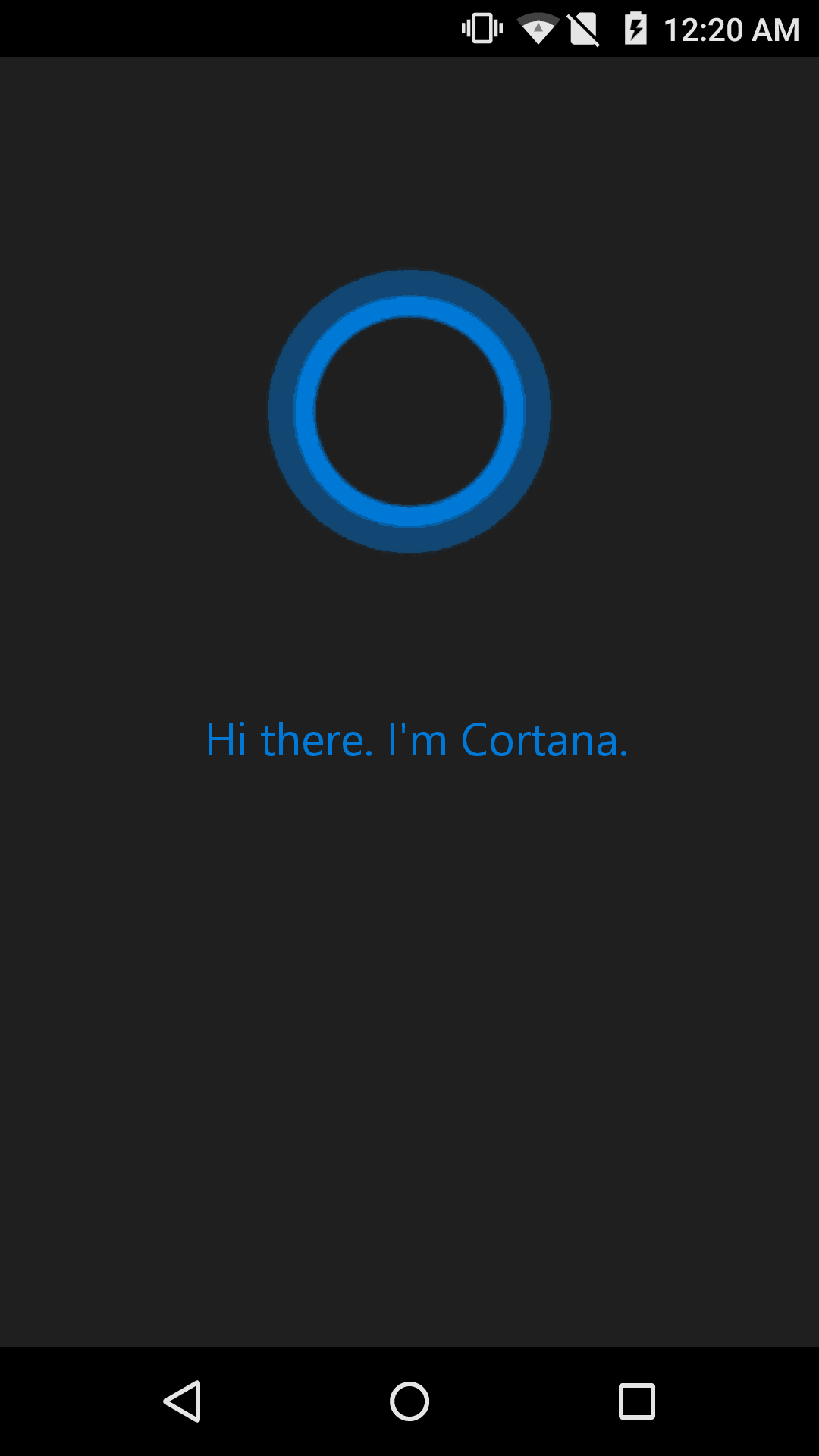 Once you have installed cortana it will ask you to sign in with your