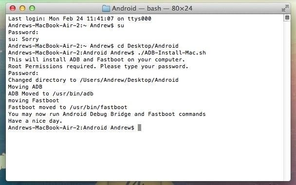 Install and Setup ADB and Fastboot Drivers on Mac