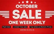 Save Big: 2015 October Sale starts from October 20 with great discounts