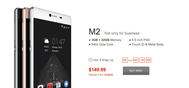 Grab Elephone M2, M1, Q and Trunk with $50 discount - Flash Sale