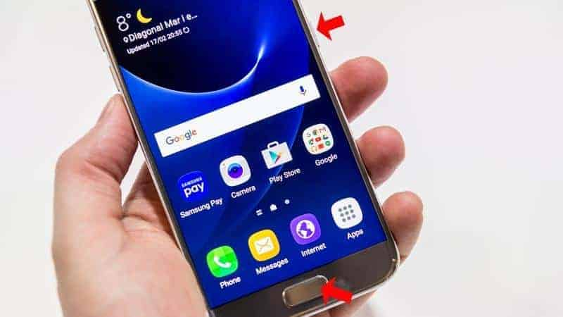 take Screenshot on Galaxy S7 and S7 Edge