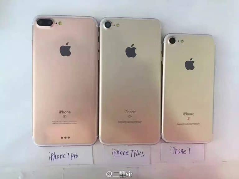 Images of Upcoming iPhone 7, iPhone 7 Plus and iPhone 7 Pro leaked Online