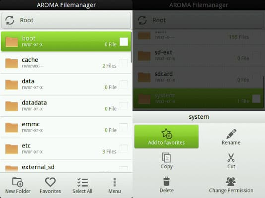 AROMA File Manager (Recovery File Manager) - Download Latest