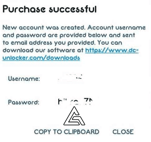 DC Unlocker Account User Name and Password