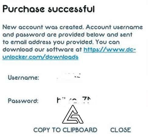DC Unlocker Account User Name and Password