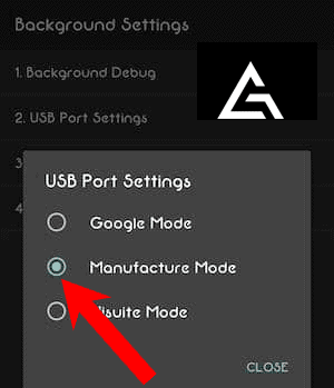 Huawei USB Port Settings Manufacturer Mode