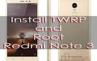 Install WRP Recovery and Root Redmi Note 3