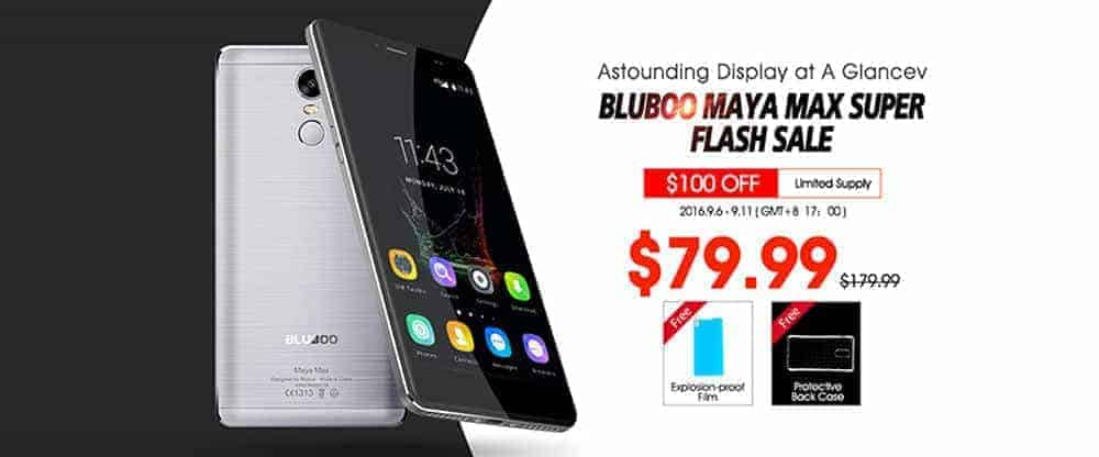 Bluboo Maya Max $79.99 Super Flash Sale Will Start Soon