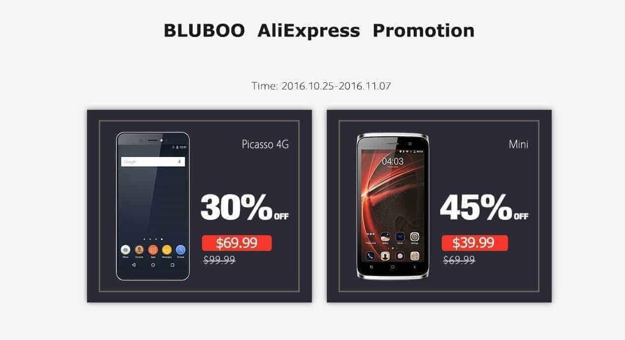 Bluboo Picasso 4G and Bluboo Mini Pre-Sale