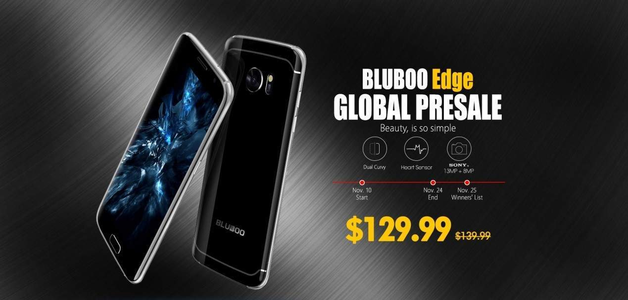 Bluboo Edge Global Pre-sale Starts from November 10 - Giveaways & More