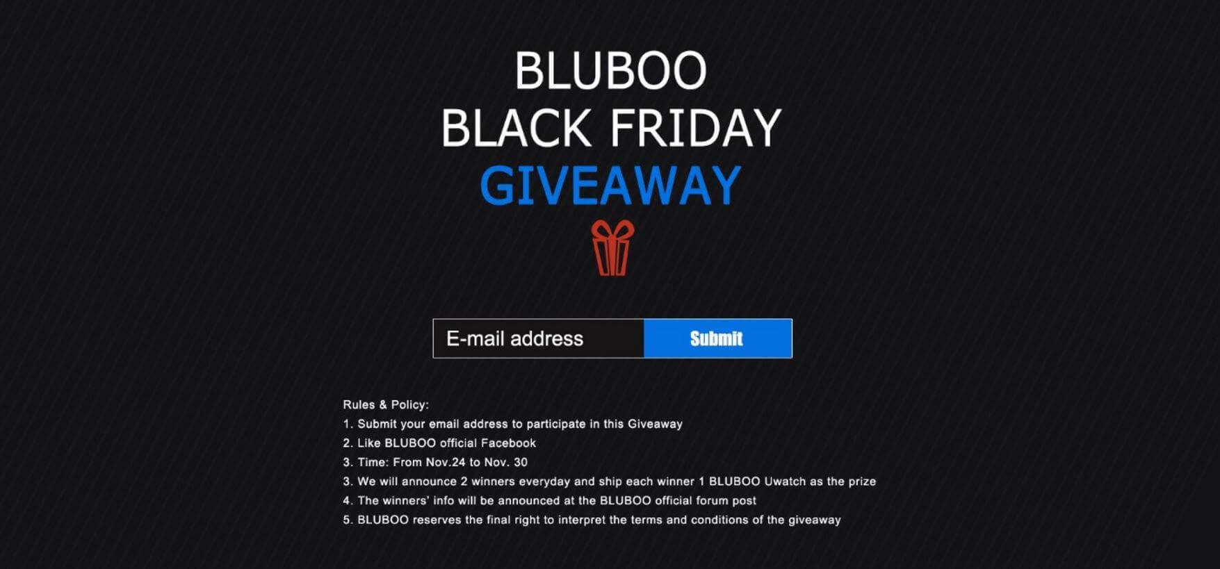 Bluboo Black Friday Giveaway