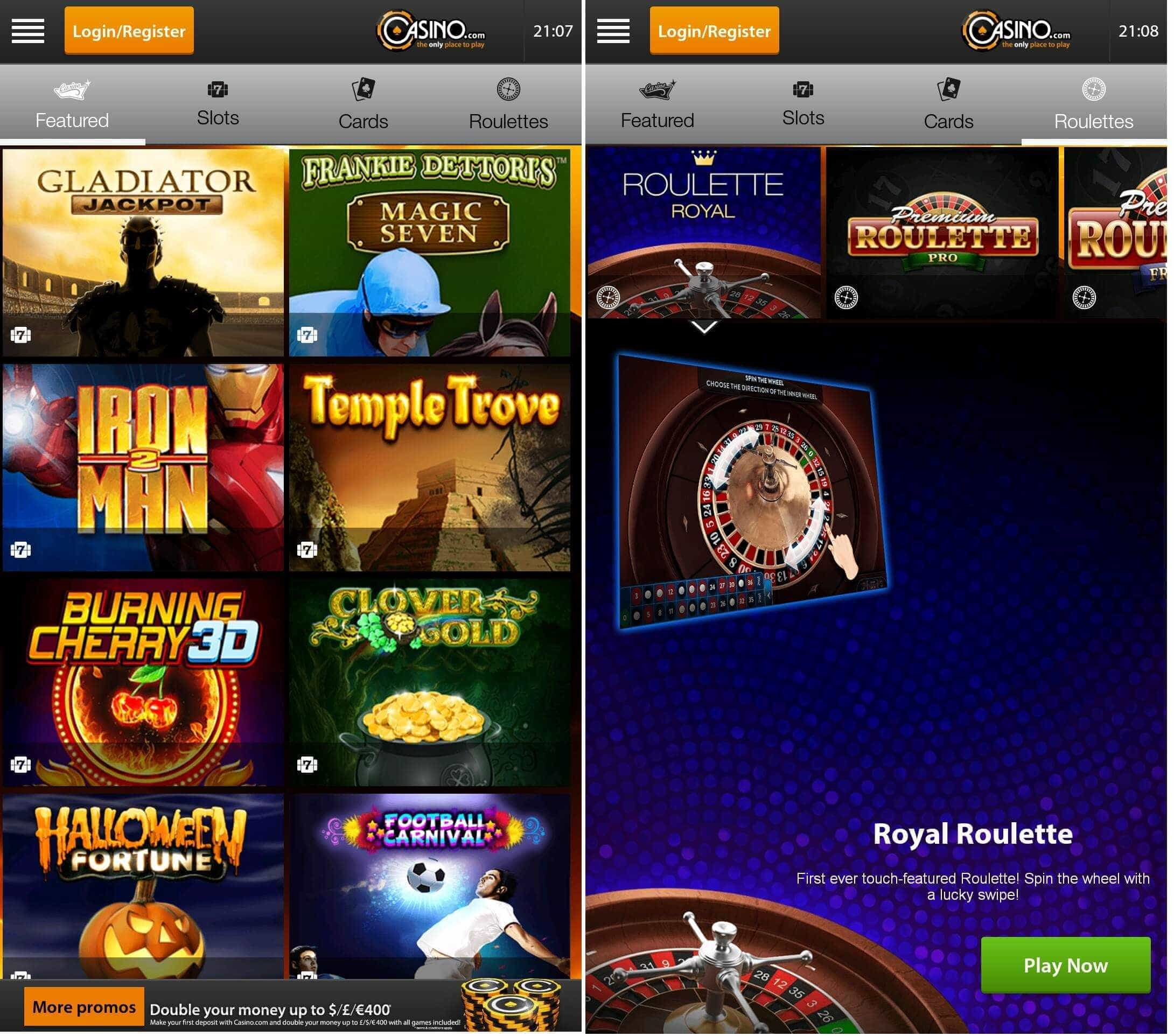 Casino.com Android app
