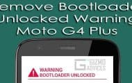 Remove Bootloader Unlocked Warning on Moto G4 Plus