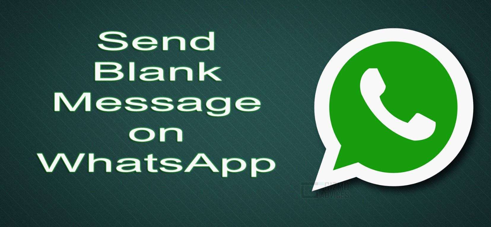 How to Send Blank / Empty Message on WhatsApp Messenger