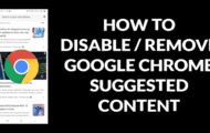 How To Disable Suggested Content From New Tab Page On Chrome For Android