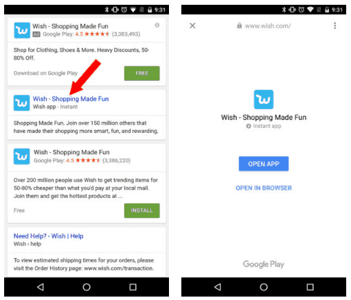 Enable Android Instant Apps and Use It