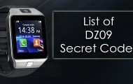 List of DZ09 Smartwatch Phone Secret Codes