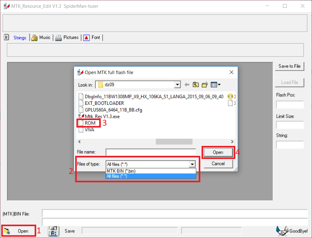 MTK Resource Edit Load ROM Change DZ09 Clock Face