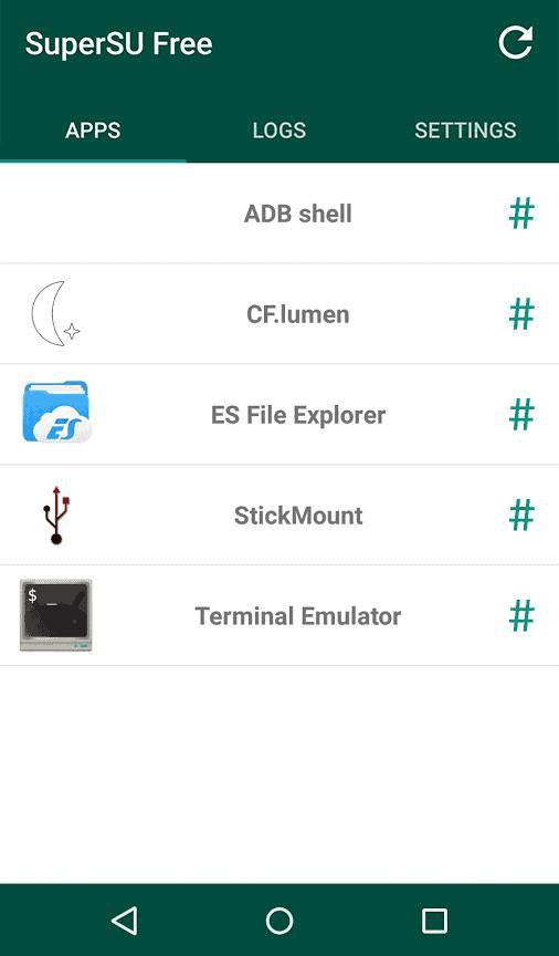 SuperSU app