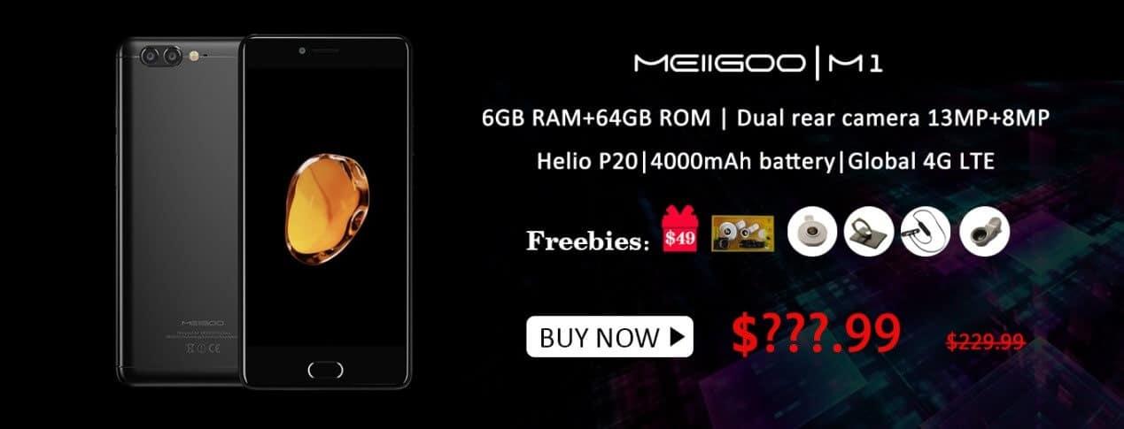 Meiigoo M1 $49 gift bag