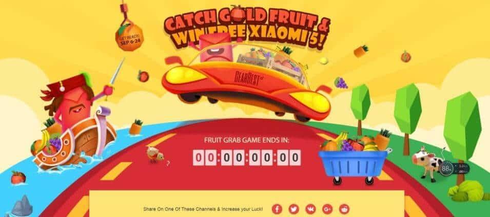 GearBest Super Bumper Harvest Sale Gold Fruit rain