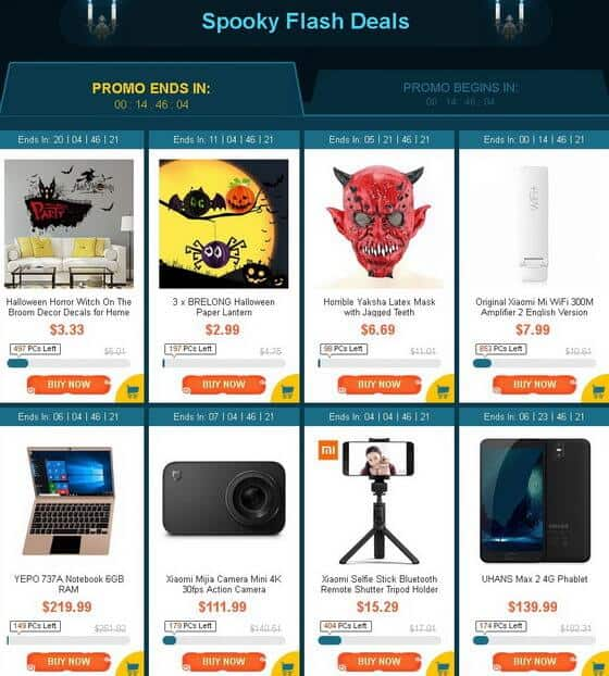 GearBest Halloween Party Promotion 2017 flash sale