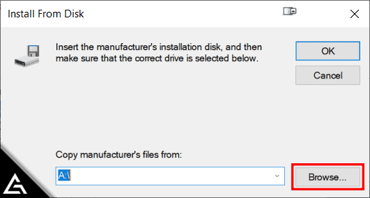 Add Hardware Wizard - Install From Disk