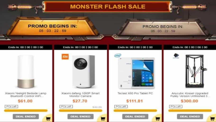 GearBest Black Friday 2017 Monster Flash Sale