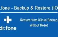 Restore from iCloud Backup without Reset