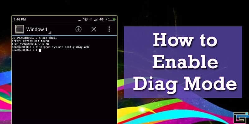 Enable Diag Mode - Activate Qualcomm Diagnostic Mode