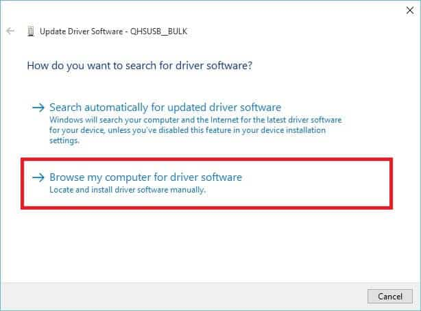 Qualcomm HS-USB QDLoader 9008 - Browse Driver Software