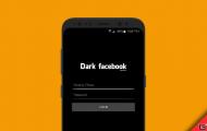 Dark Facebook App