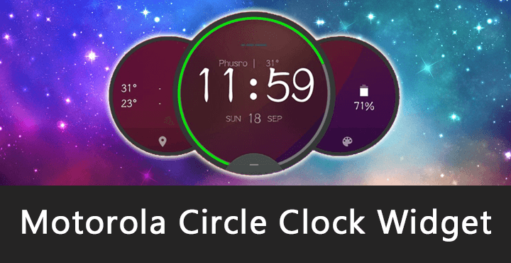 Motorola Circle Clock Widget APK for Android [Download] [No ROOT]