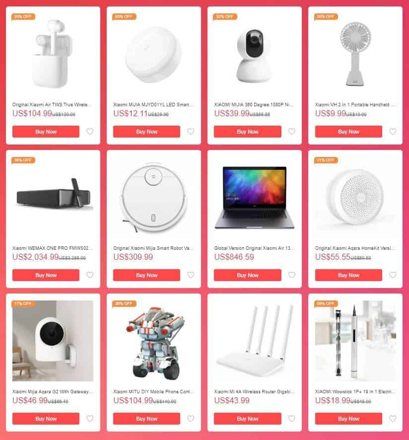 Mi Fan Festival 2019 - Xiaomi Products