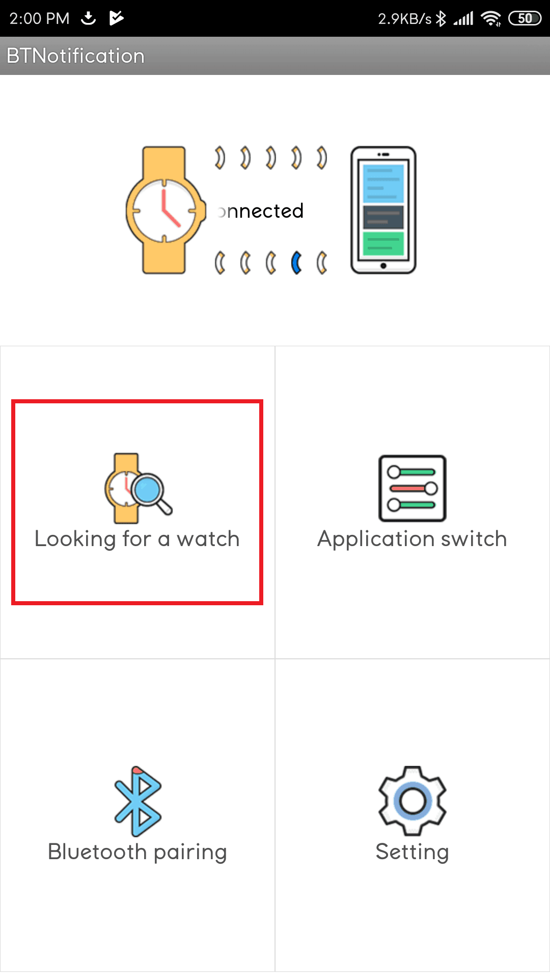 Bluetooth Notification App - Looking for a watch
