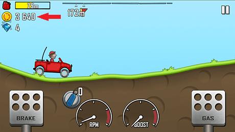 Hill Climb Racing 3640 Coins