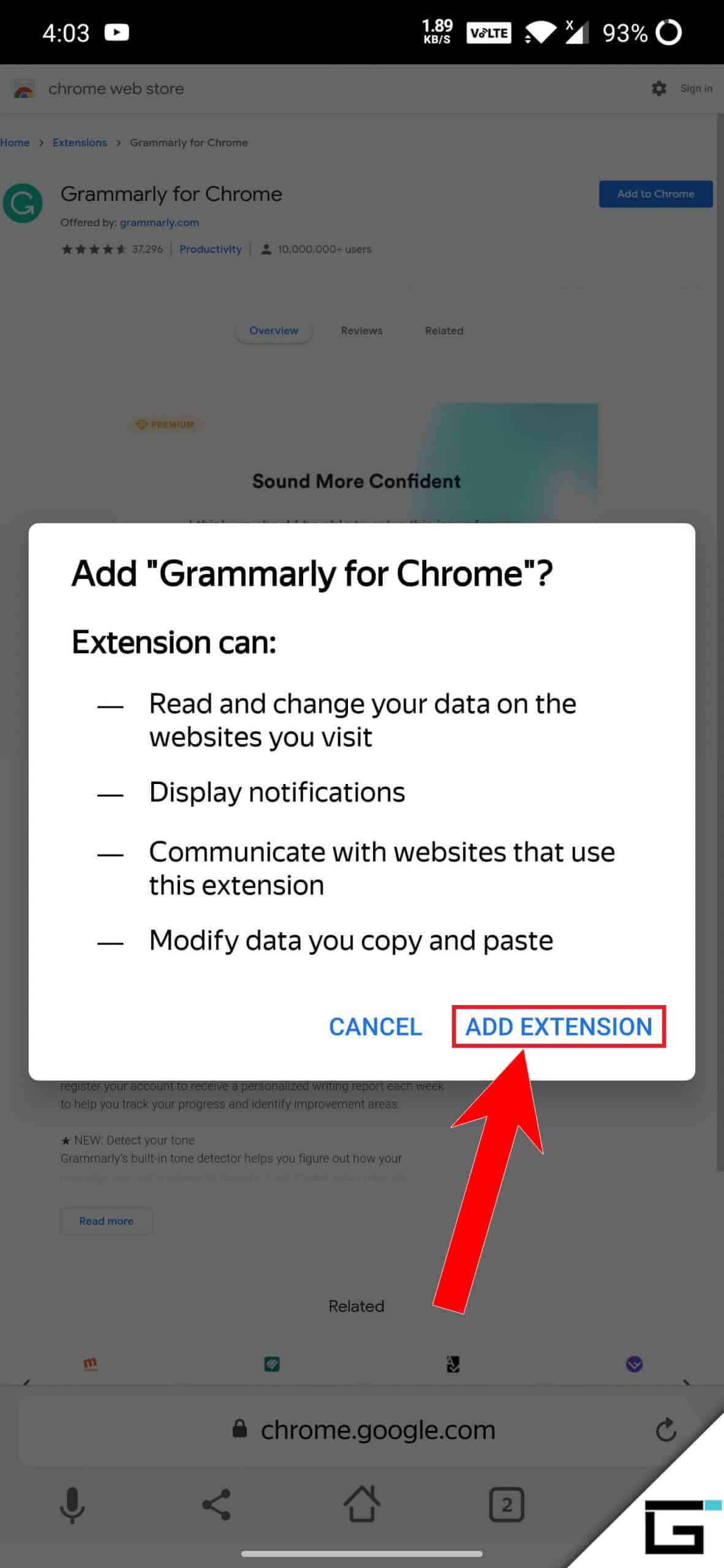 Yandex Browser Add Extension