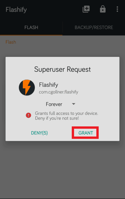 Flashify-Superuser Request