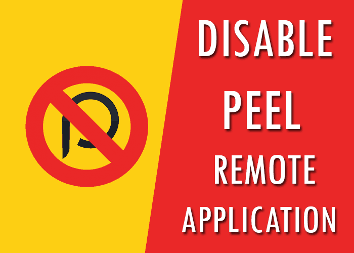 disable peel remote