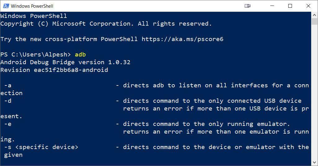Check adb not recognized fix PowerShell